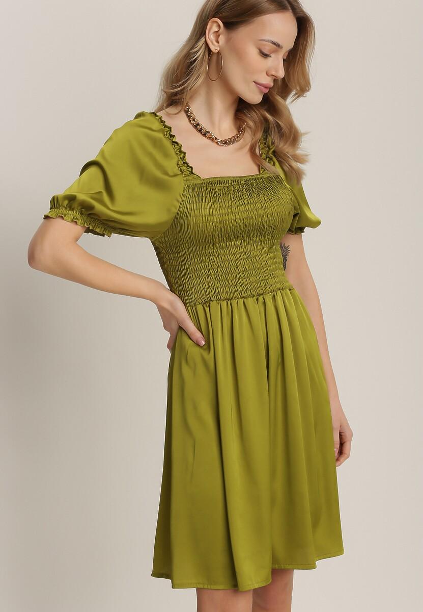 Ciemnozielona Sukienka Fysersya