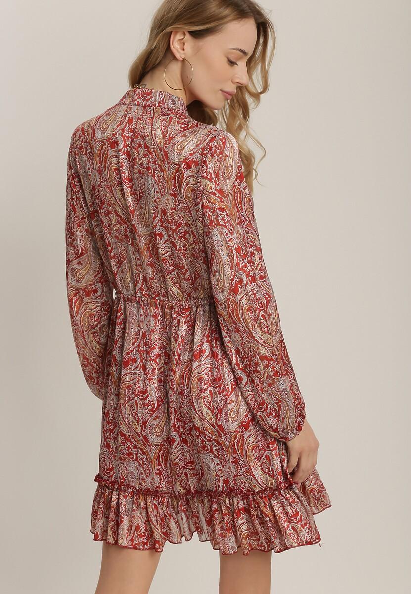 Bordowa Sukienka Talolure
