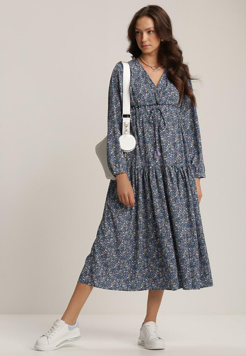 Granatowa Sukienka Metiothise