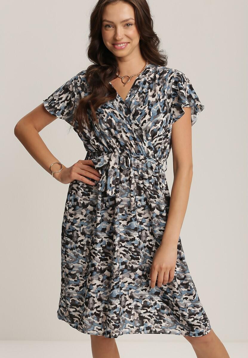Niebieska Sukienka Palamis