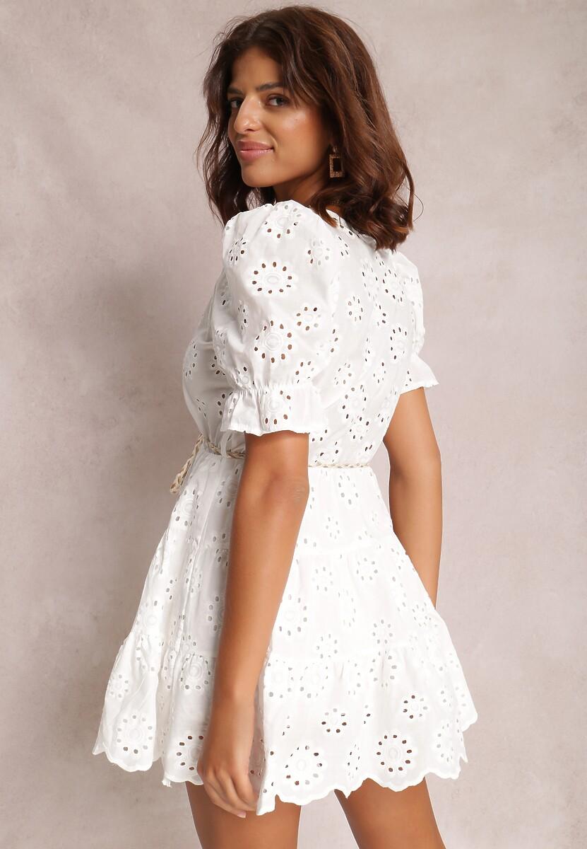 Biała Sukienka Winesha