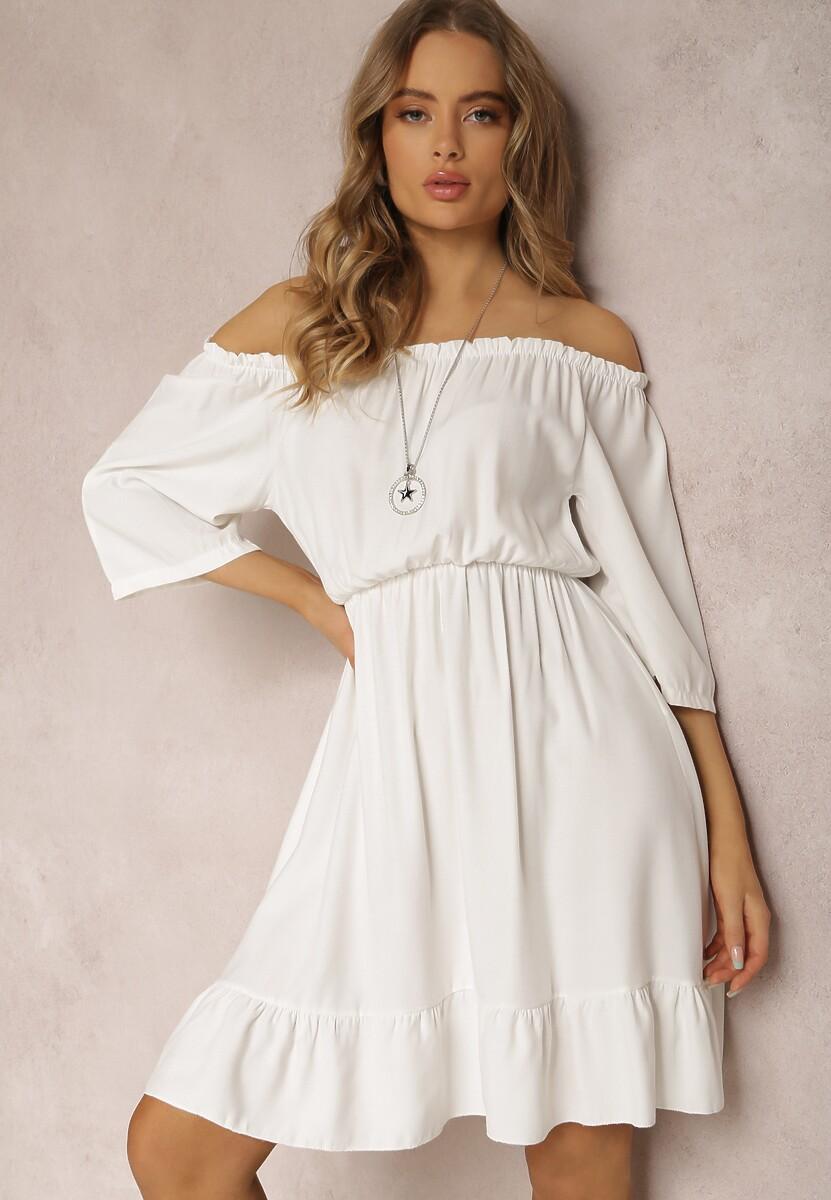 Biała Sukienka Uhrera