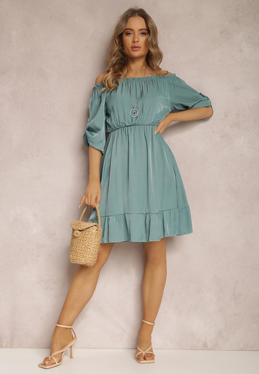 Niebieska Sukienka Uhrera