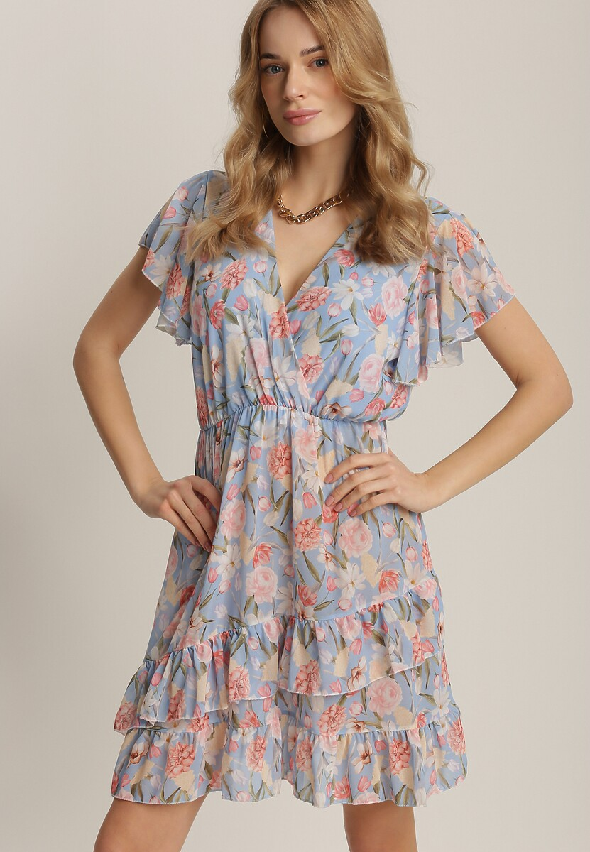 Jasnoniebieska Sukienka Azaertyse