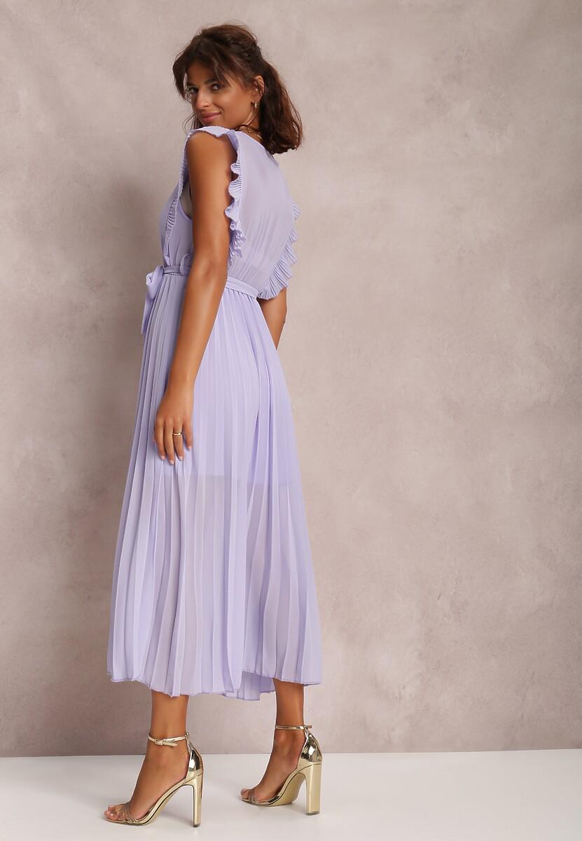 Liliowa Sukienka Phisoria
