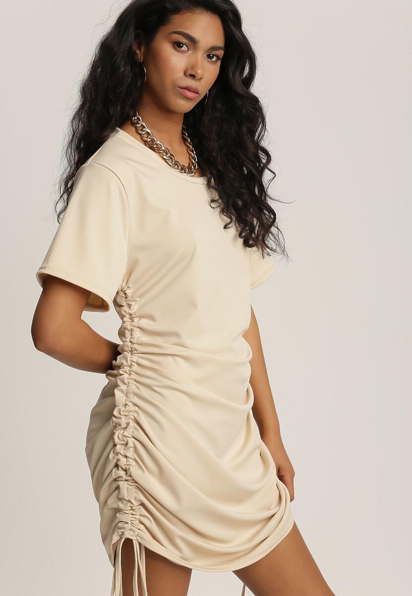 Jasnobeżowa Sukienka Bwyntila