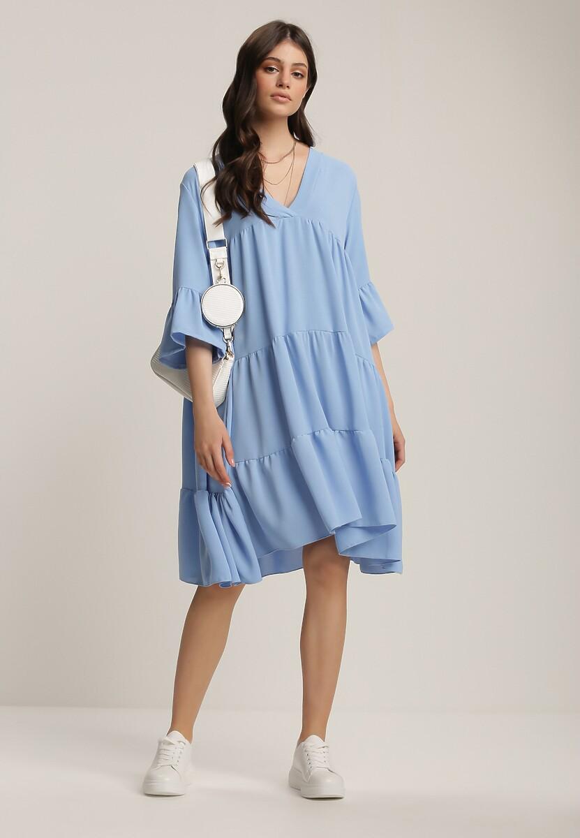 Niebieska Sukienka Jeniefa