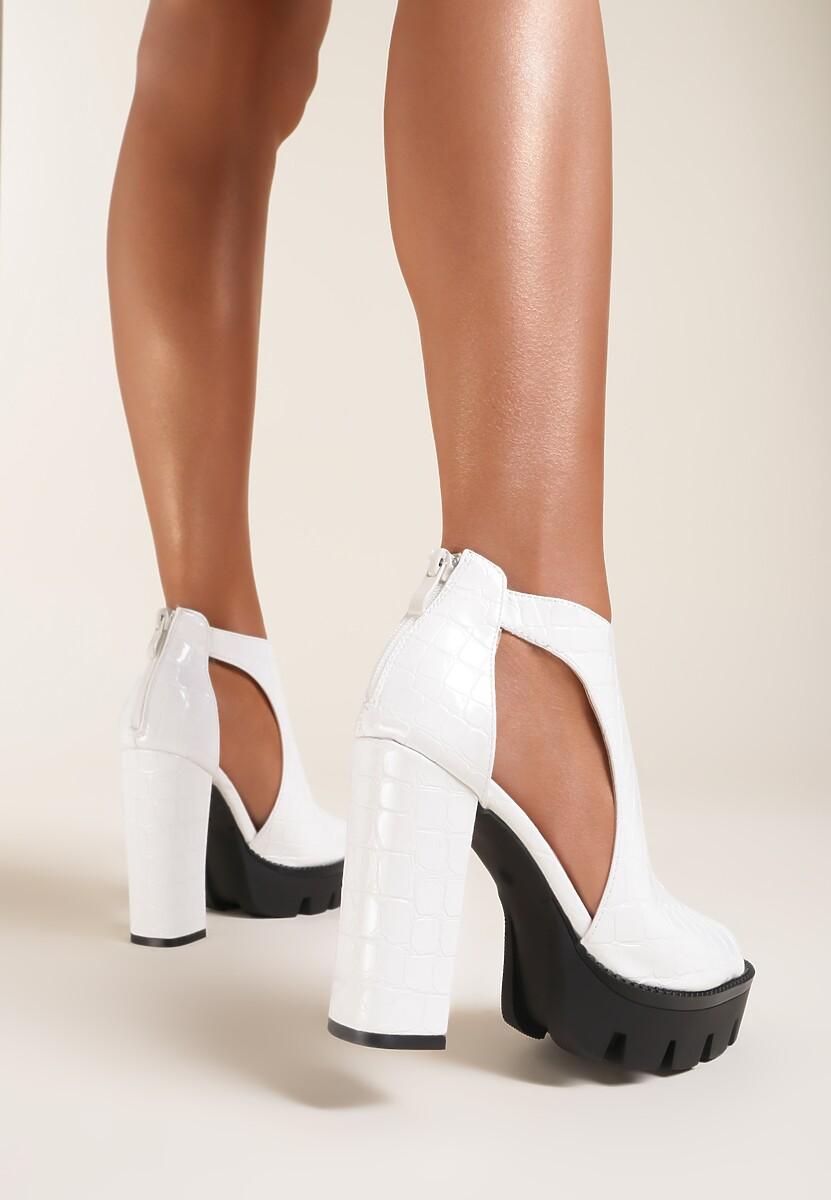 Białe Sandały Laing