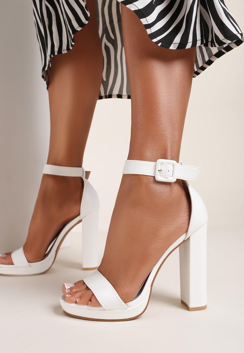 Białe Sandały Amaliriope