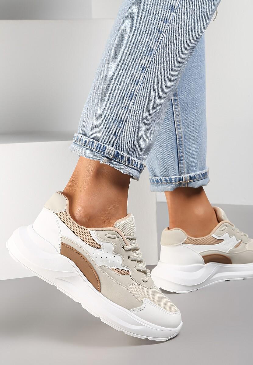 Beżowe Sneakersy Delaguna