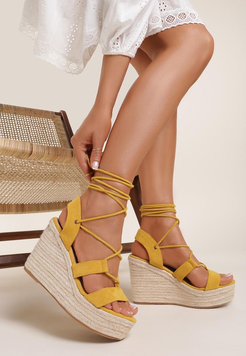 Żółte Sandały Lilinyxih