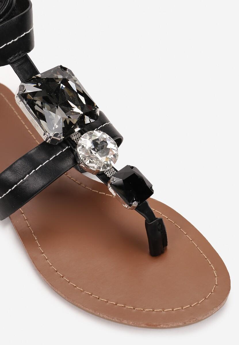 Czarne Sandały Rhaenophi