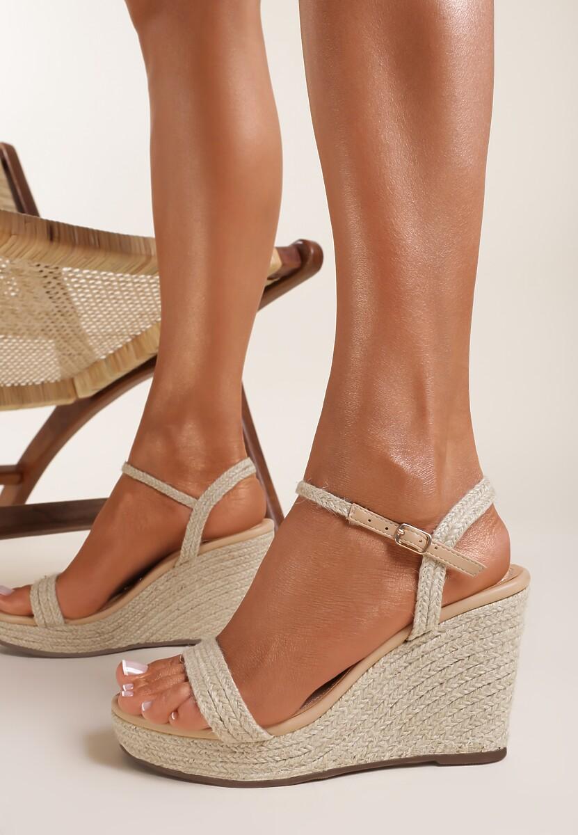 Beżowe Sandały Ginororia