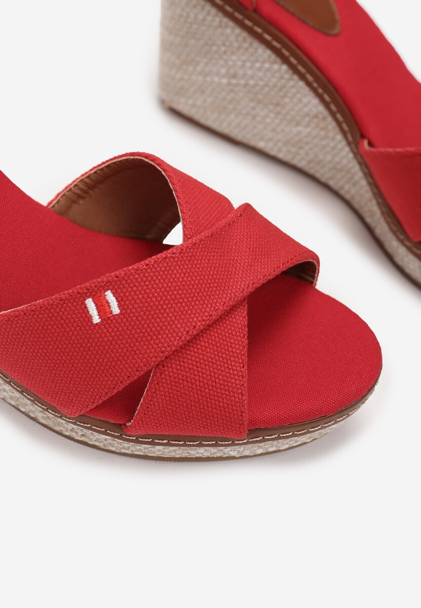 Czerwone Sandały Petirane
