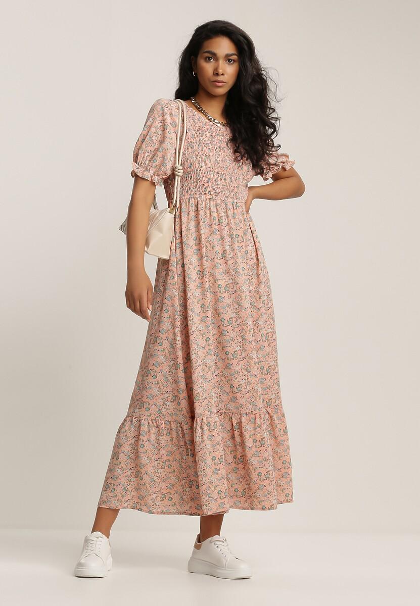 Łososiowa Sukienka Molmeni