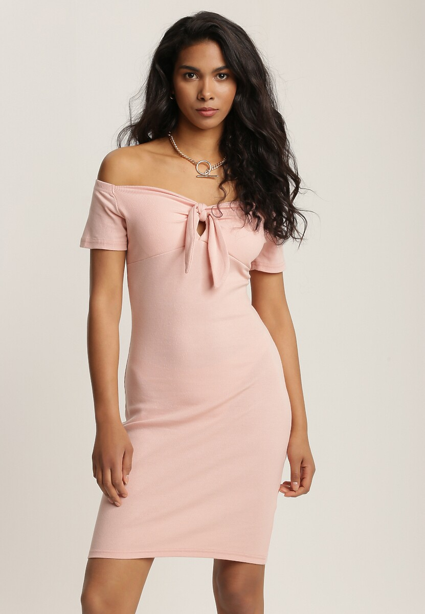 Jasnoróżowa Sukienka Aquita