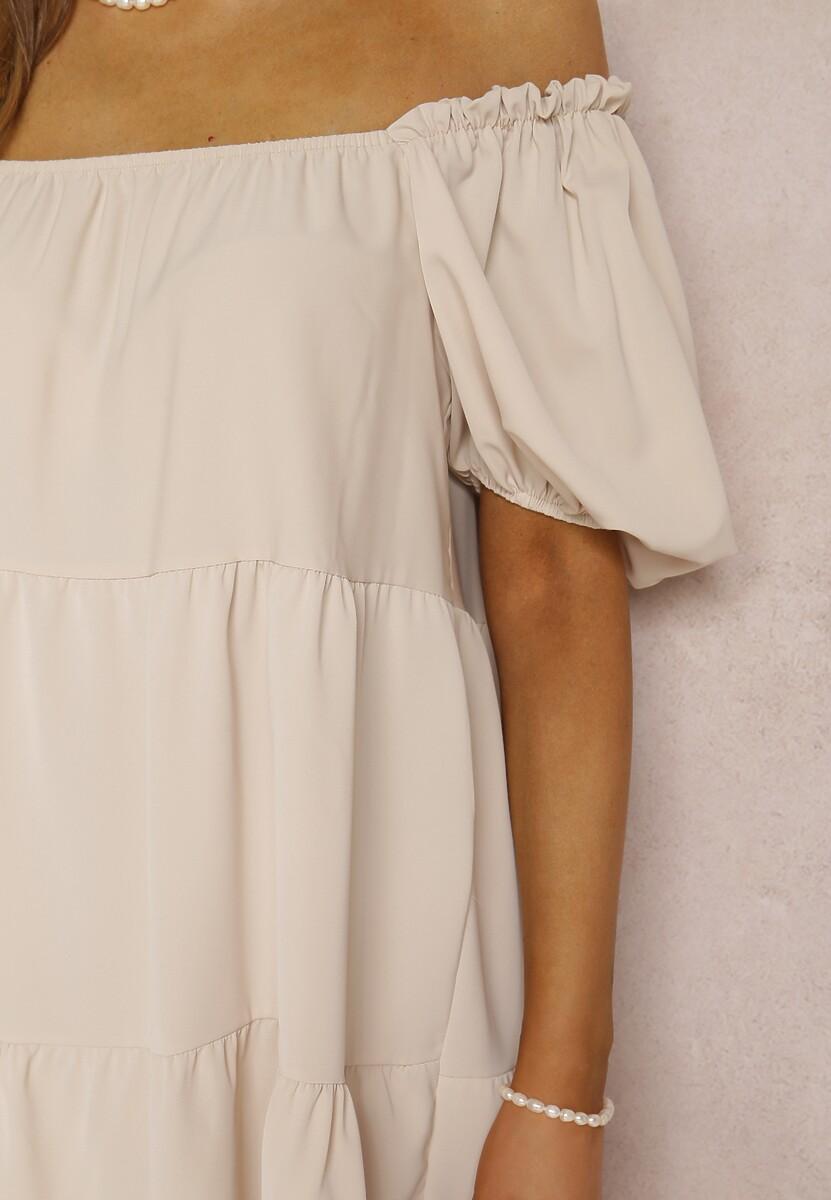 Beżowa Sukienka Idalise