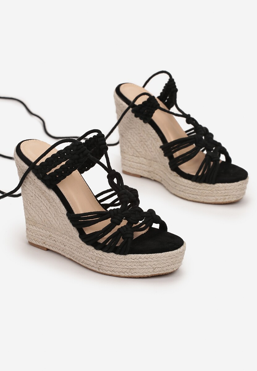 Czarne Sandały Silaphine