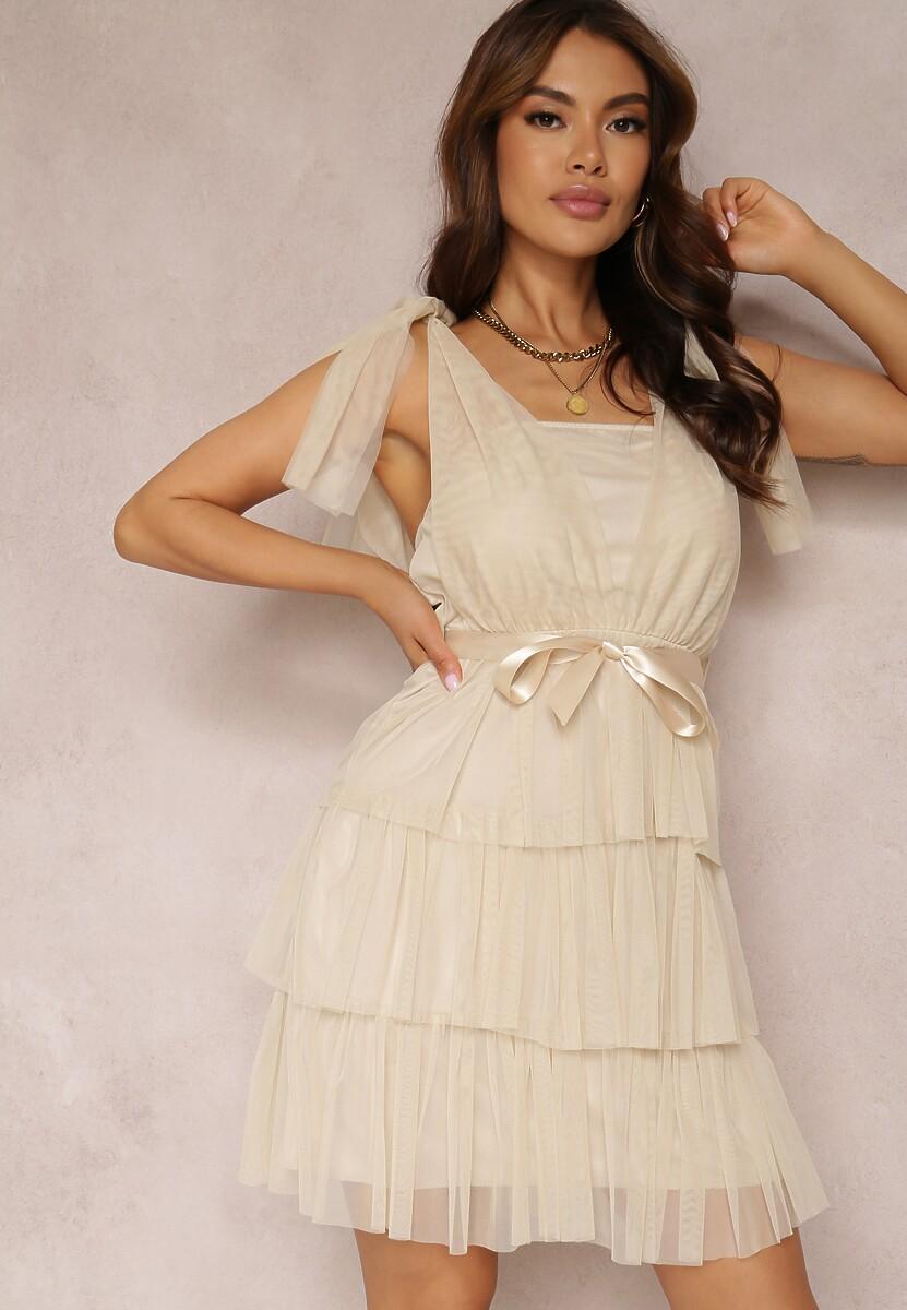 Beżowa Sukienka Alaliphis