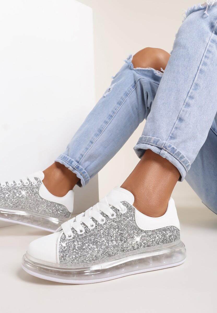 Srebrne Sneakersy Qyraya