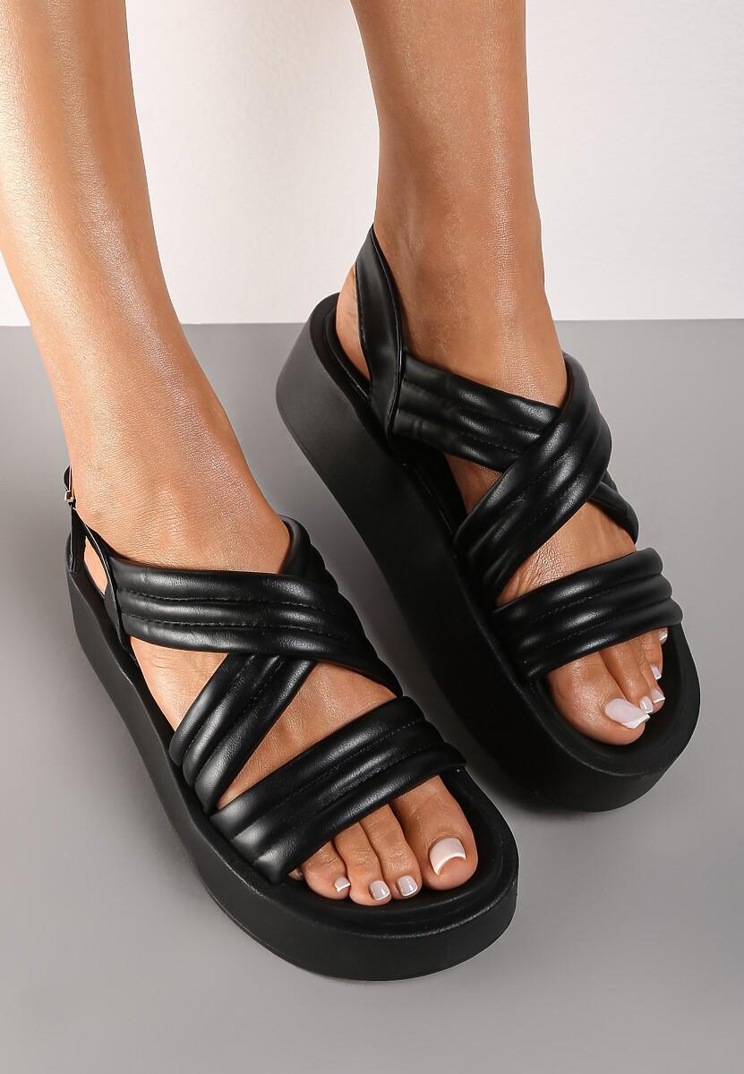 Czarne Sandały Thessawai