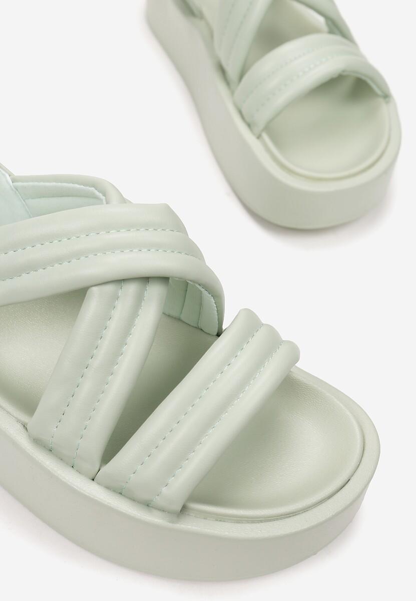 Miętowe Sandały Thessawai