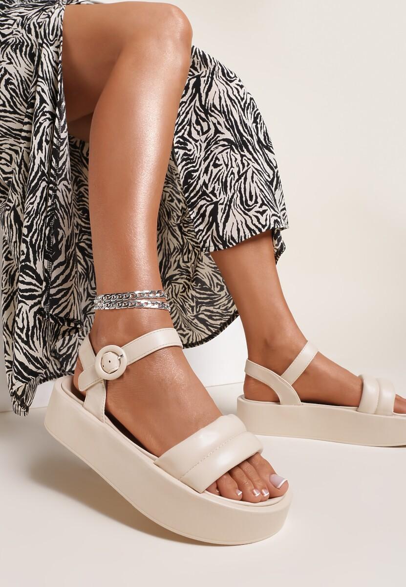 Beżowe Sandały Larimisia