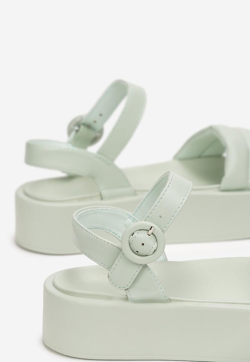 Miętowe Sandały Larimisia