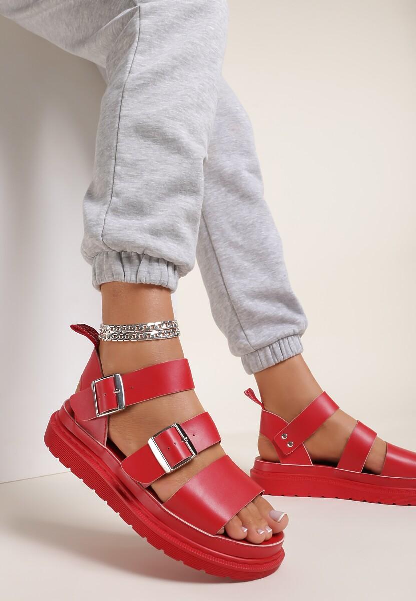 Czerwone Sandały Kleopea