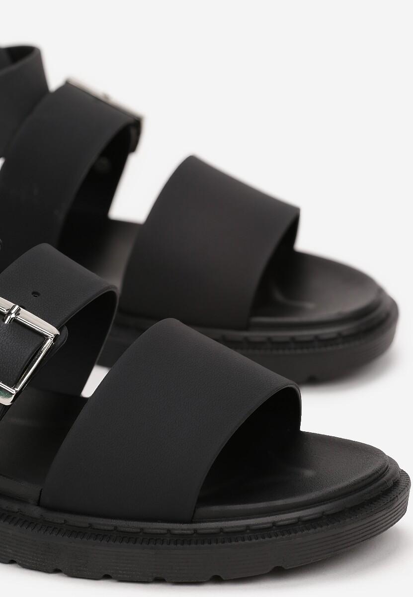 Czarne Sandały Calocea