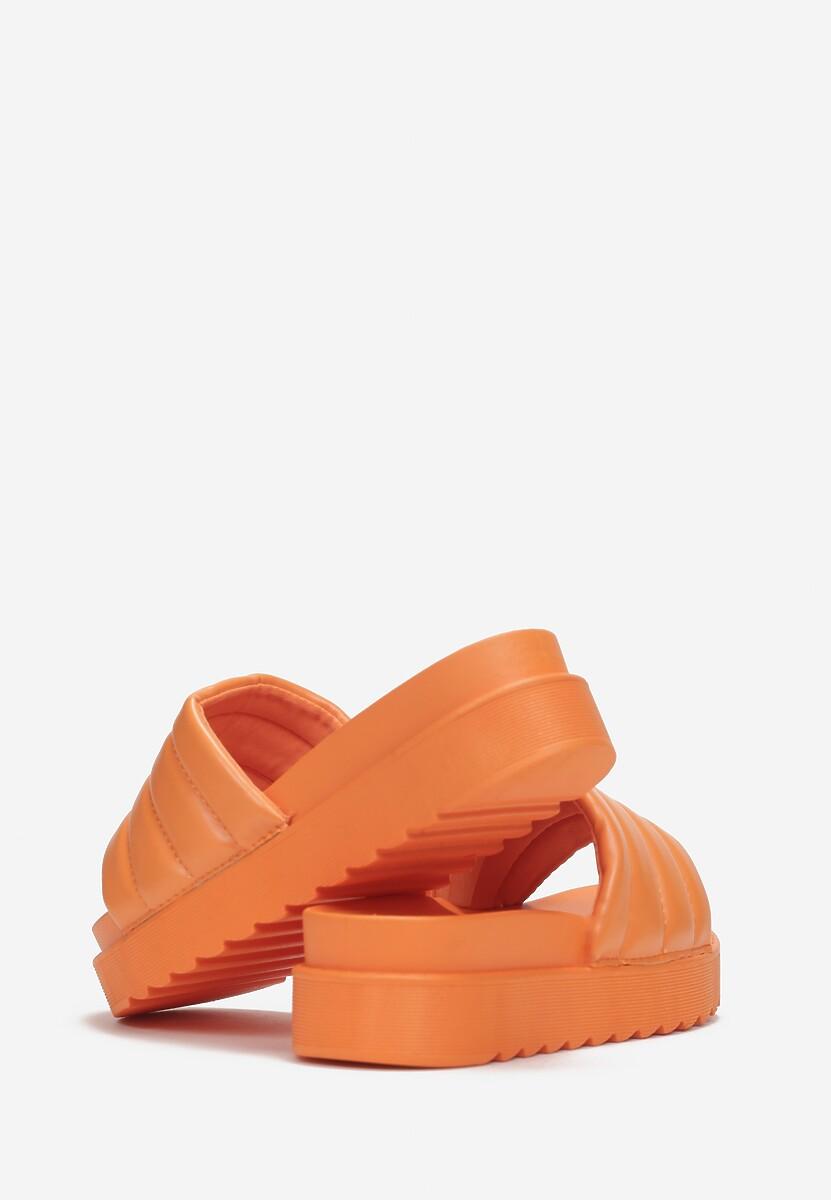 Pomarańczowe Klapki Noeris