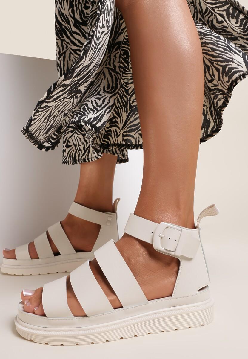 Beżowe Sandały Amalimene