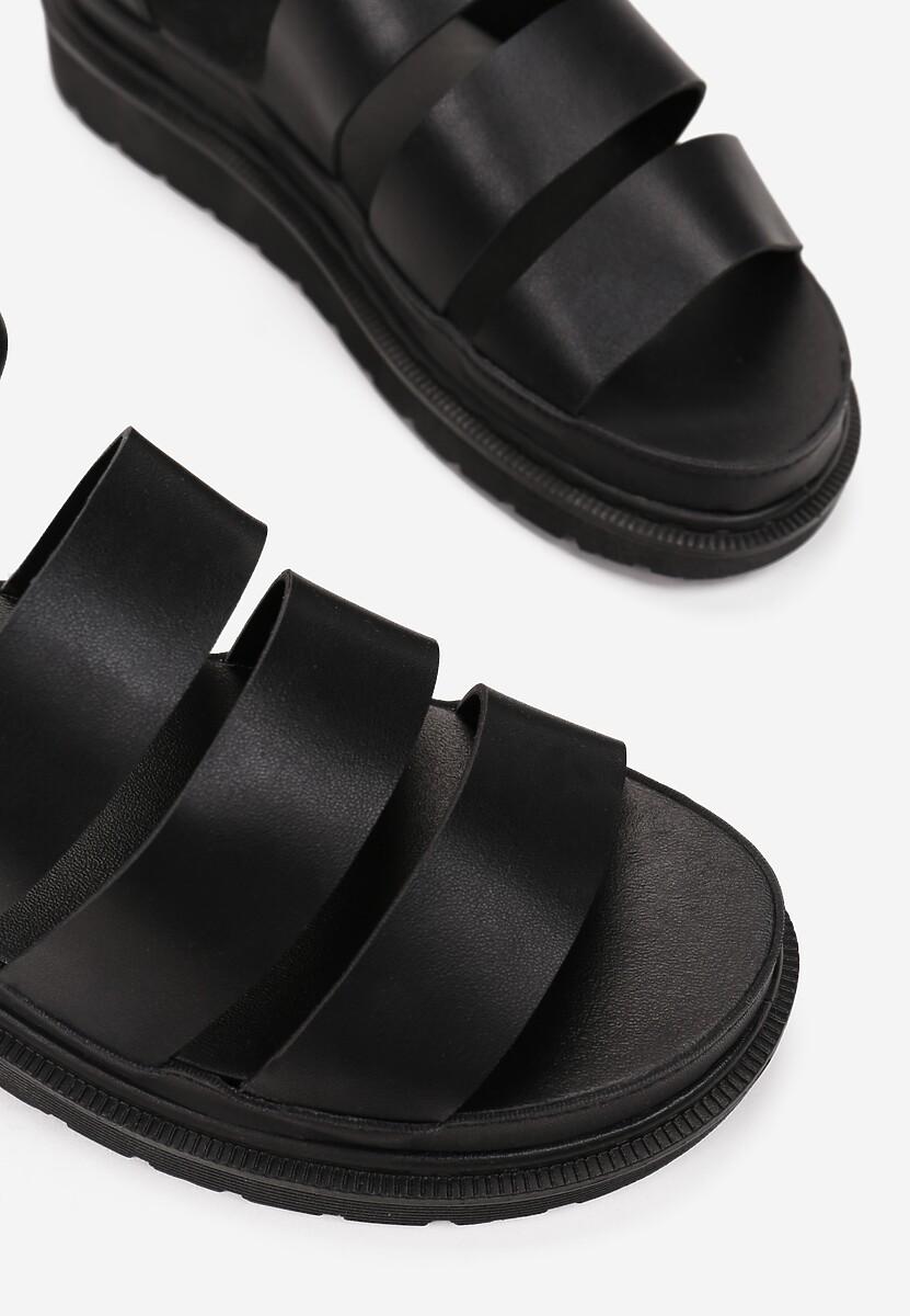 Czarne Sandały Amalimene