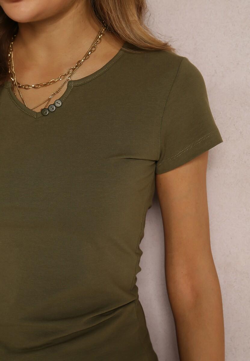 Ciemnozielony T-shirt Auranna