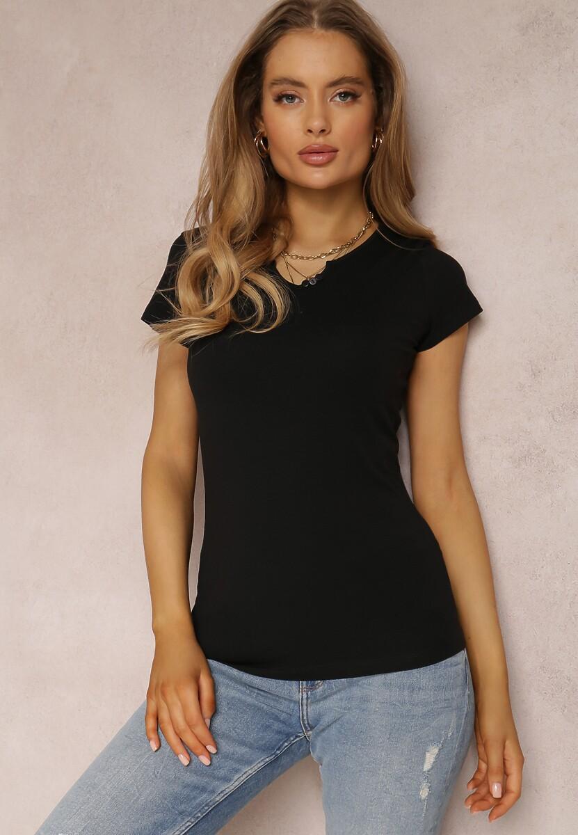 Czarny T-shirt Petomeine