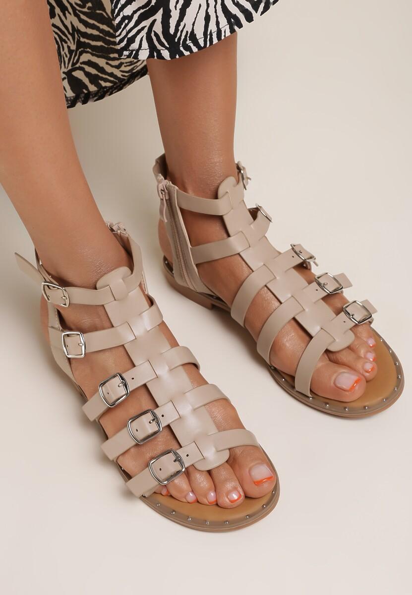 Beżowe Sandały Lysessei