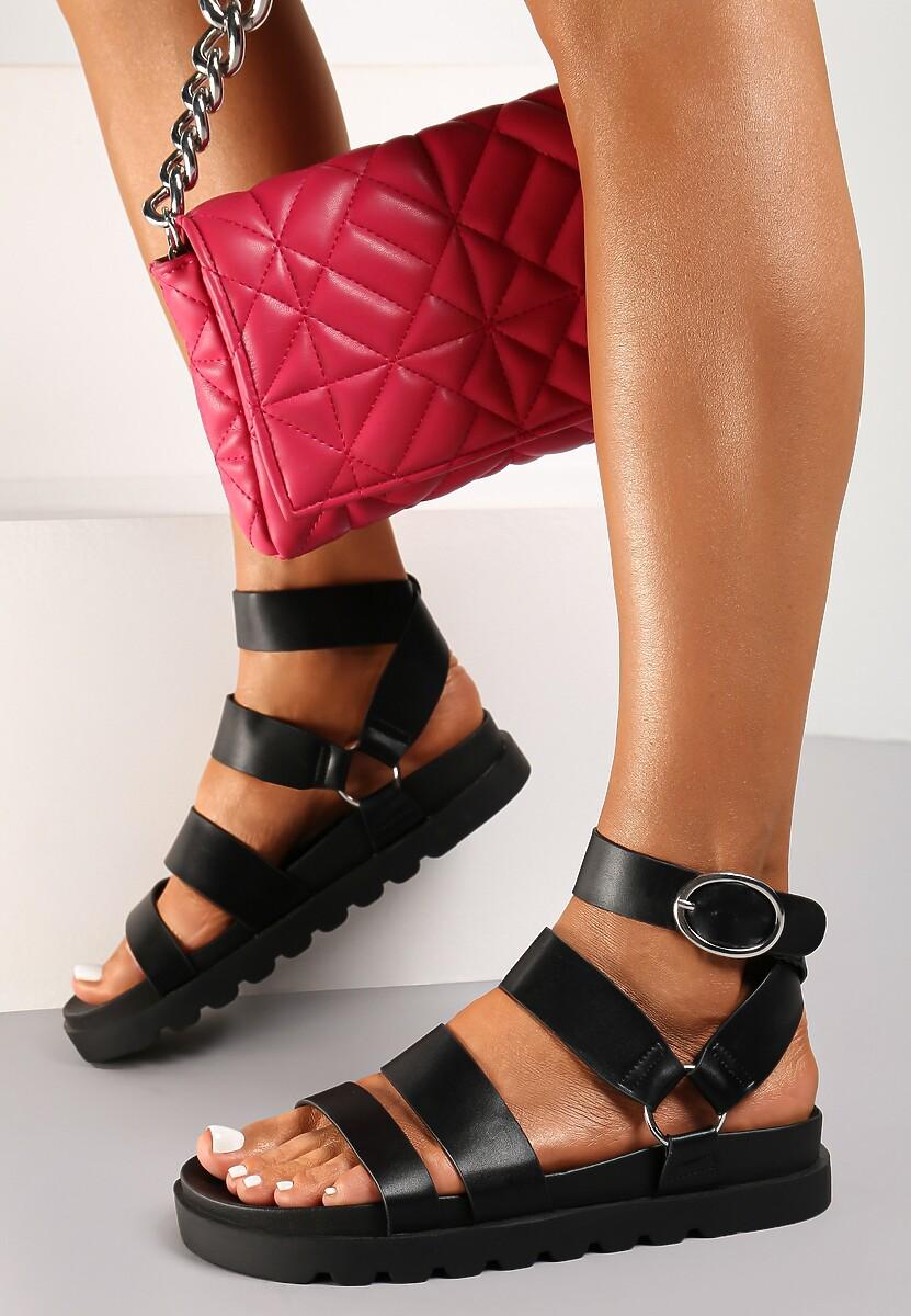 Czarne Sandały Ophioesa
