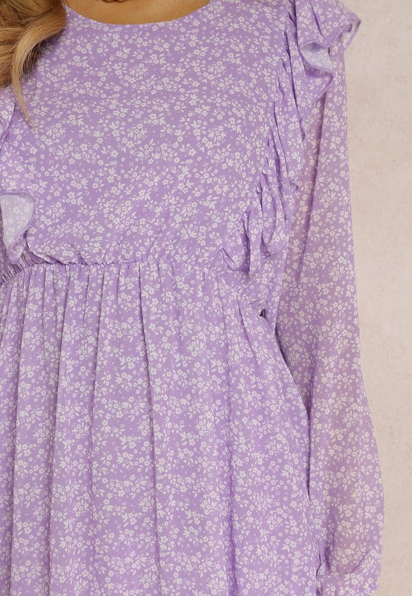 Liliowa Sukienka Asteolophi