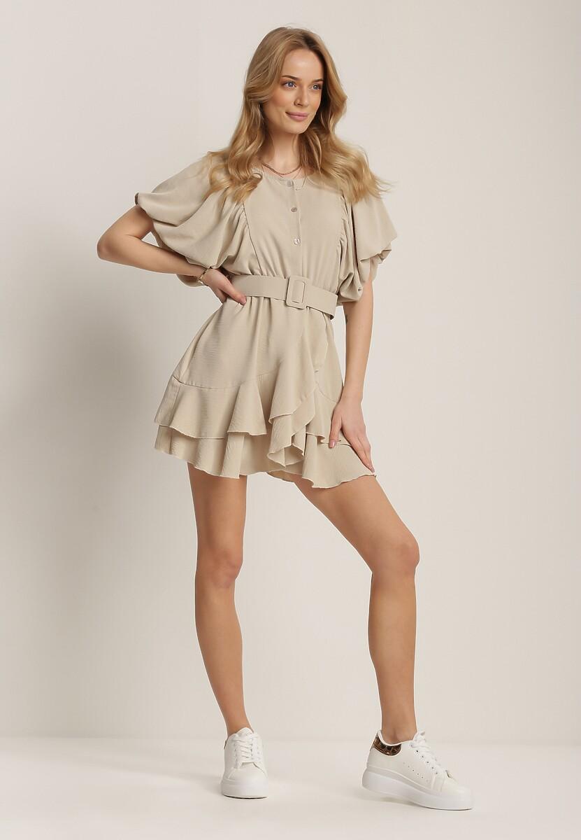 Beżowa Sukienka Rhenenea