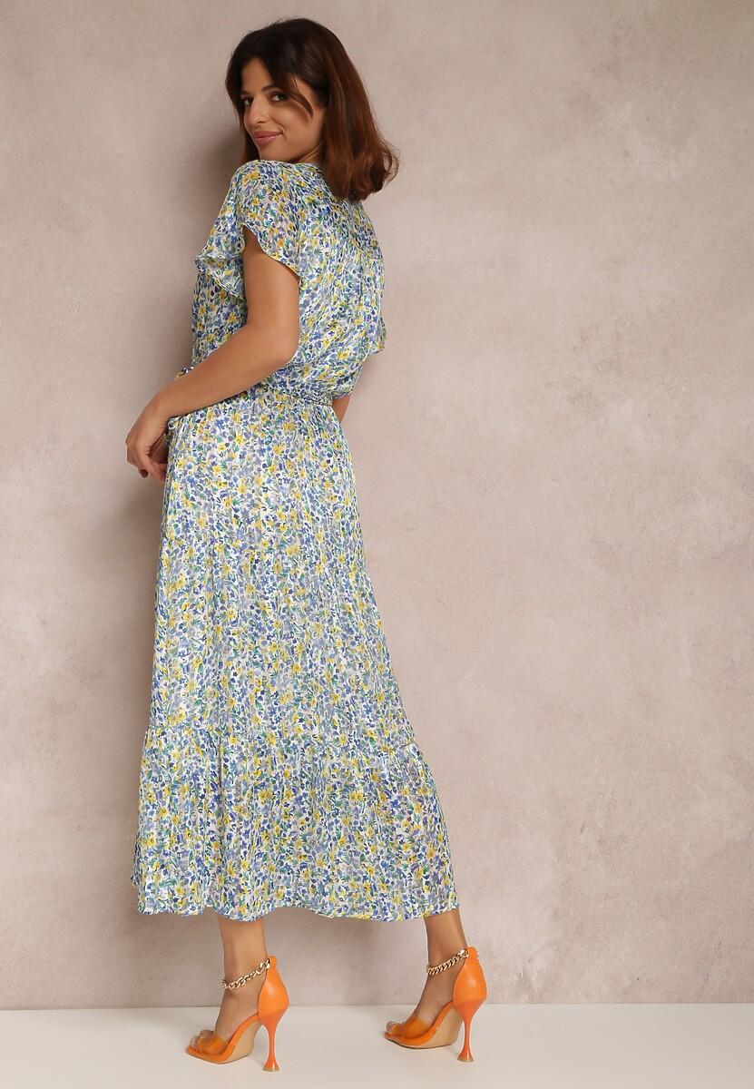 Niebieska Sukienka Celadeia