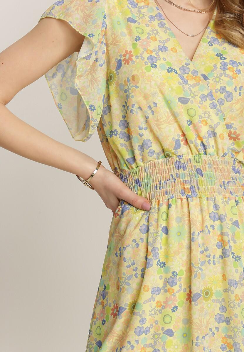 Żółta Sukienka Oarama