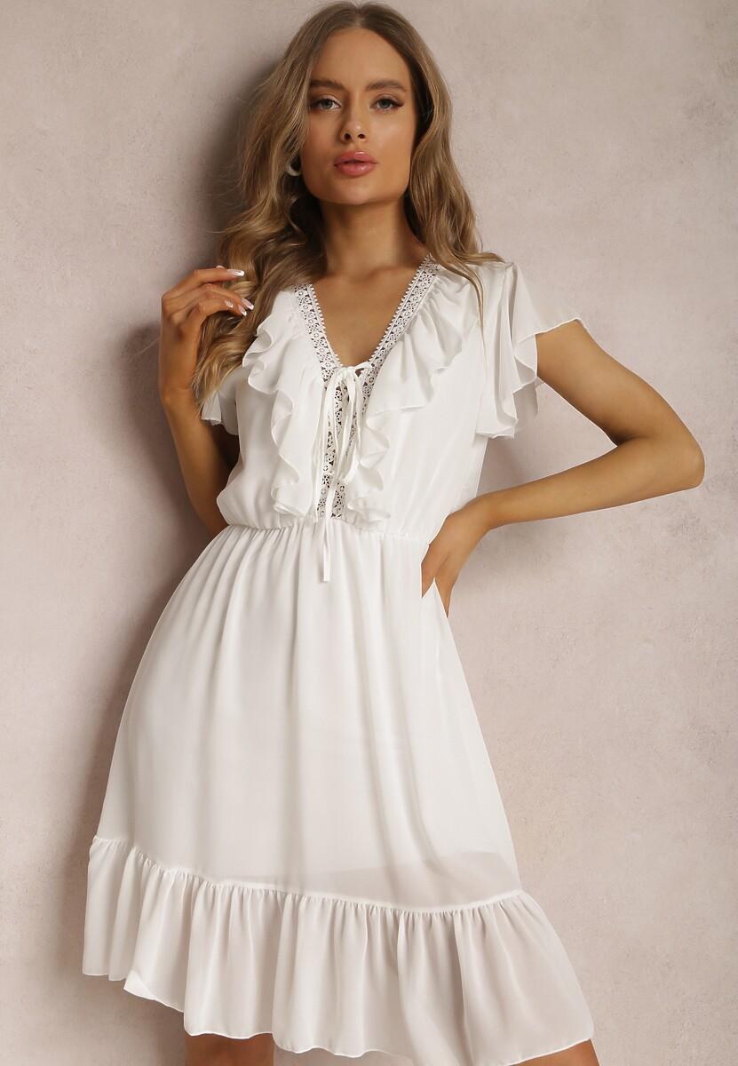 Biała Sukienka Coraelura