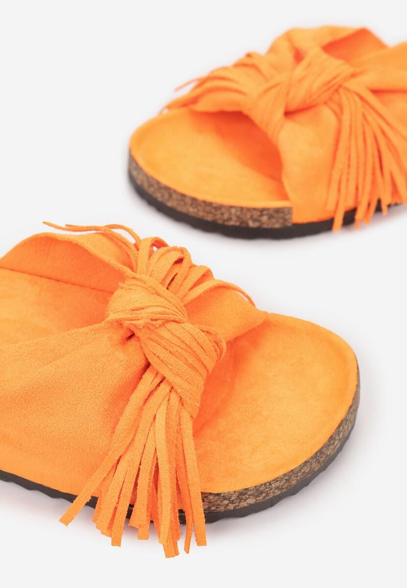 Pomarańczowe Klapki Sabophia