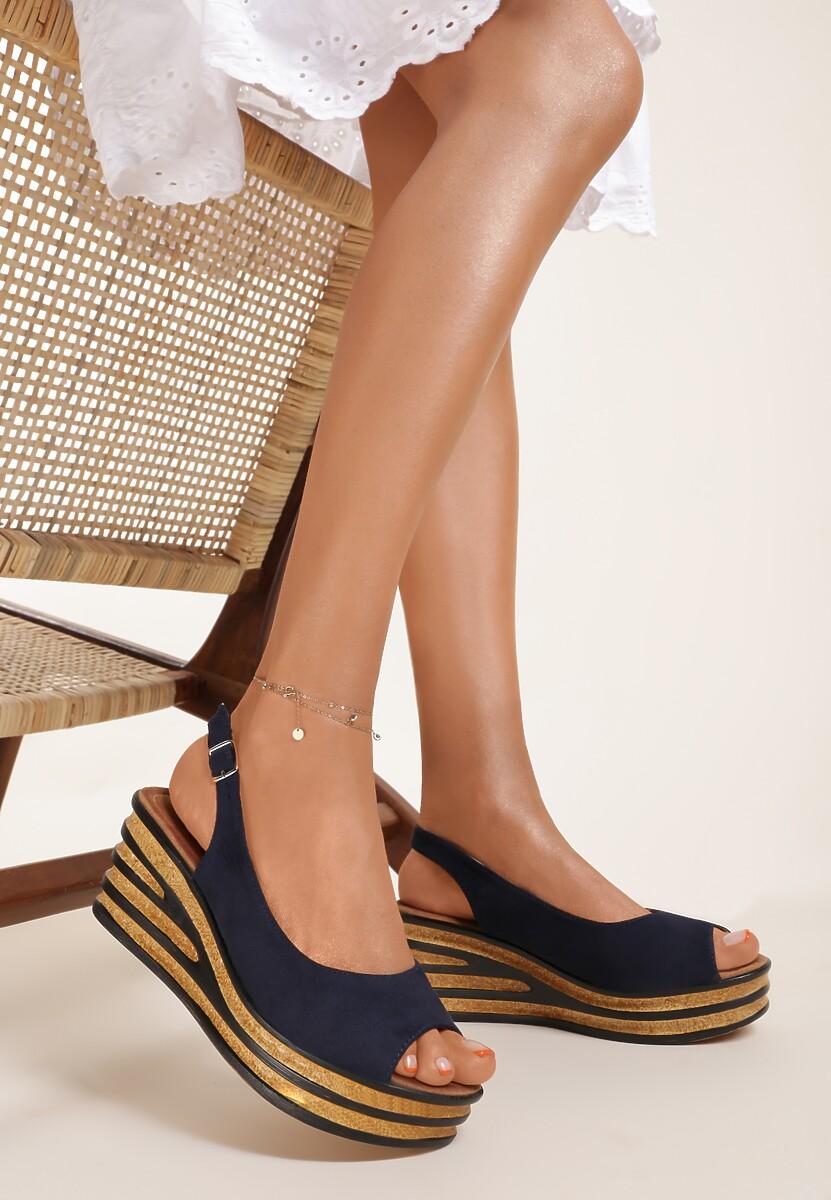 Granatowe Sandały Phoishis