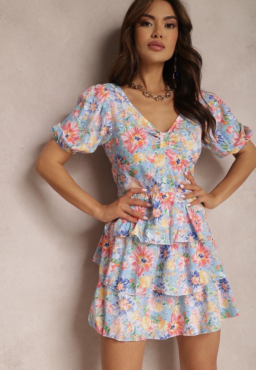 Jasnoniebieska Sukienka Aelishae