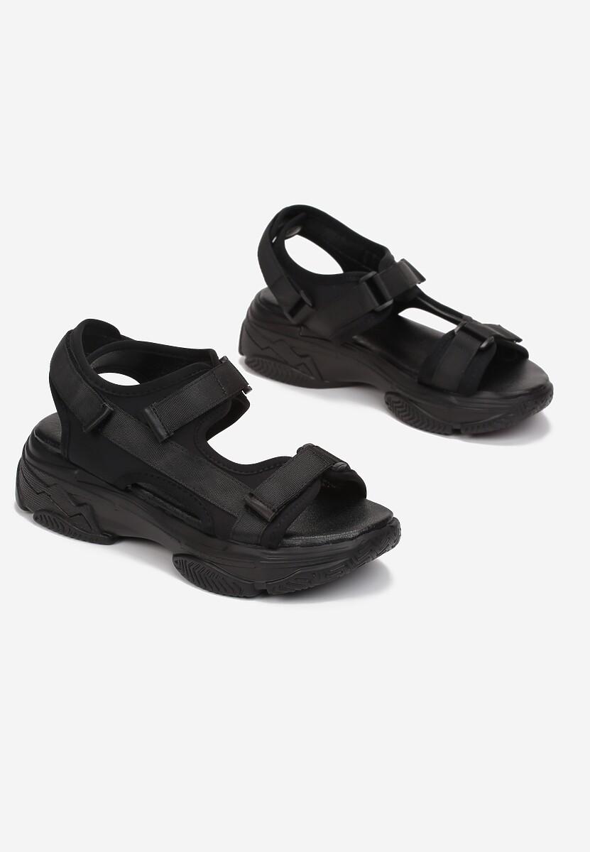 Czarne Sandały Psalia