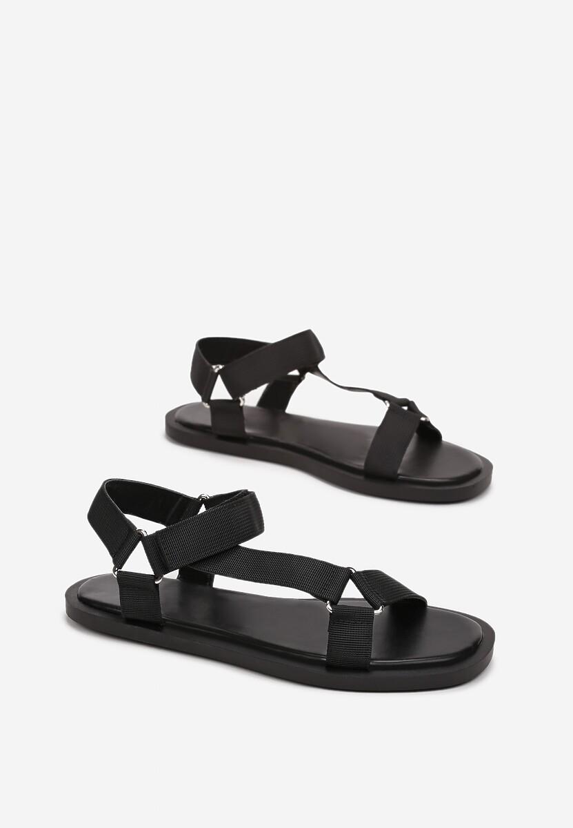 Czarne Sandały Prosophise
