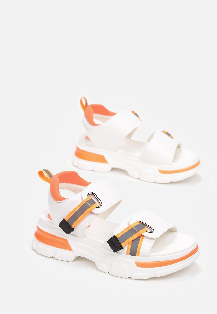 Biało-Pomarańczowe Sandały Inachys