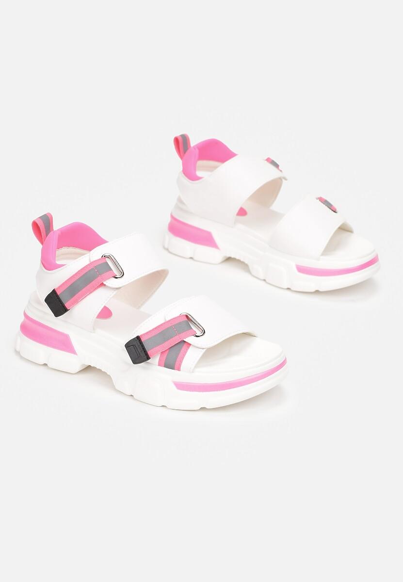 Biało-Różowe Sandały Inachys