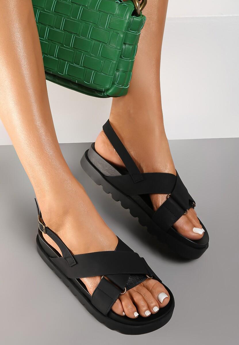 Czarne Sandały Athilymes